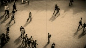 stock-footage-busy-city-street-with-people-walking-fast-time-lapse-with-vintage-effect